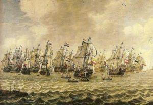 Kapal VOC berlayar ke Nusantara