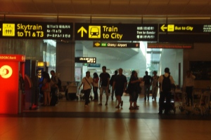 Bandara Changi di lorong menuju MRT