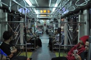 Kabin bus Transjakarta yang lapang dan nyaman
