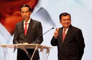 Jokowi-JK saat debat capres-cawapres