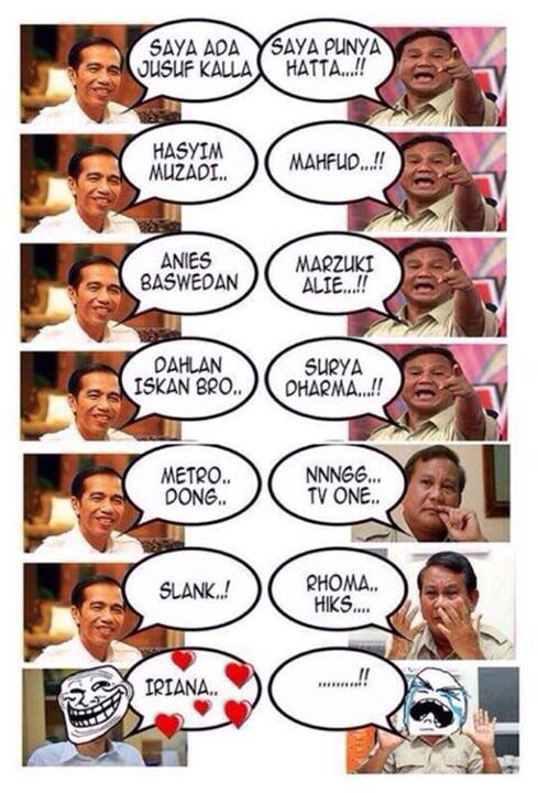 Pendukung Jokowi vs Prabowo (sumber : forum.detik.com)
