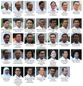 Kabinet Kerja Jokowi-JK (sumber : vibiznews.com)