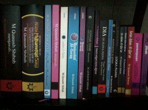 Buku-buku karya Quraish Shihab (sumber : kontainerqalam.blogspot.com)