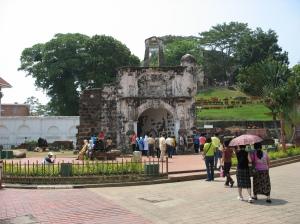 Reruntuhan Benteng Portugis di Malaka : A Fomosa