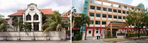 Sekolah Arab di Singapura, Madrasah Alsagoff (kiri) dan Madrasah Aljunied (kanan)