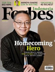 Sehat Sutardja di sampul majalah Forbes Indonesia