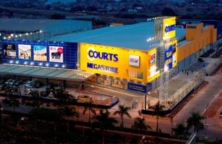 Courts Megastore, peritel Inggris di Kota Harapan Indah