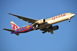 Kostum F.C. Barcelona di Qatar Airways